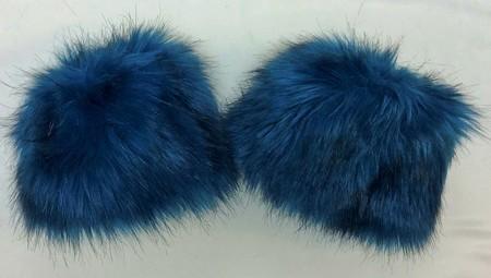 SALE Blue Lagoon Faux Fur Cuffs