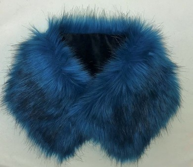 SALE Blue Lagoon Faux Fur Collar