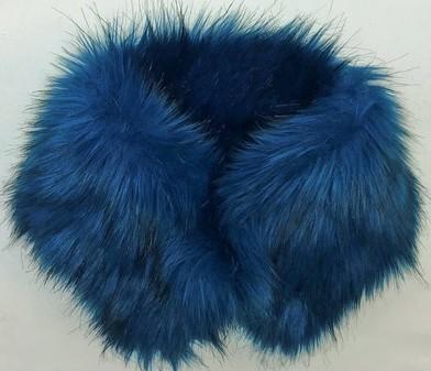 SALE Blue Lagoon Faux Fur Collar Both Sides