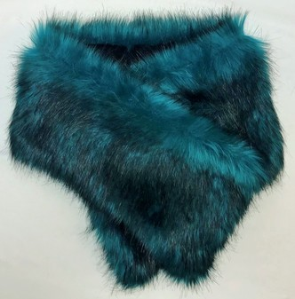 SALE Jade Faux Fur Asymmetric Scarf