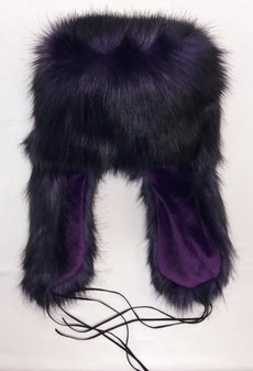 SALE Purple Rain Faux Fur Trapper Hat