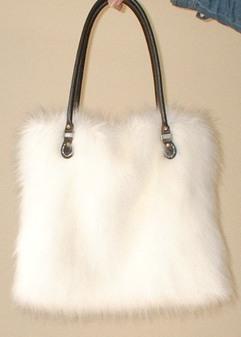 SALE Polar Bear Faux Fur Tote Bag