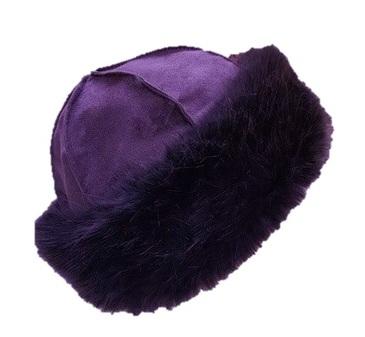 Amethyst Faux Fur Roller Hat