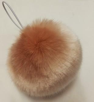 Tissavel Blush Faux Fur Bobble/ Pom Pom Large