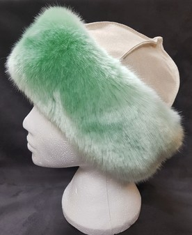 Tissavel Mint Faux Fur Roller Hat
