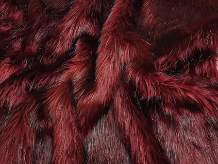 Tuscan Red Faux Fur Cushions