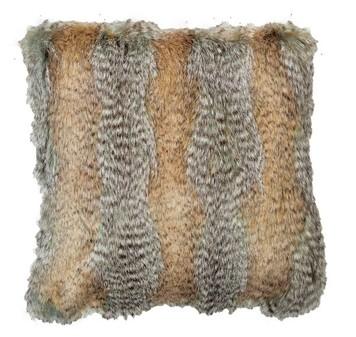 Desert Coyote Faux Fur Cushions