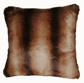 Golden Brown Chinchilla Faux Fur Cushions