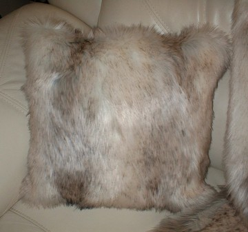 Snow Wolf Faux Fur Cushions