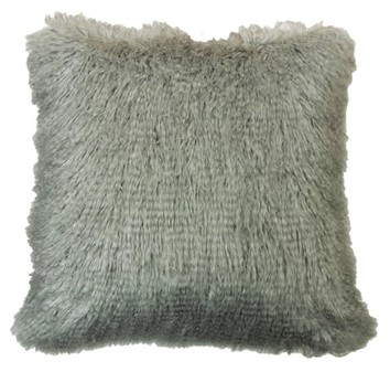 Mongolian Grey Faux Fur Cushions