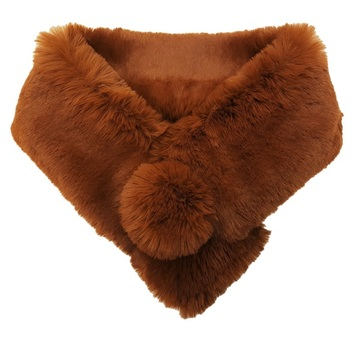 Autumn Leaves Faux Fur Pom Pom Collar