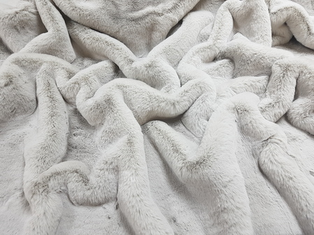 Silver Softee Faux Fur Fabric Per Meter