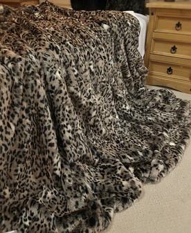 Wild Cat Faux Fur Throw