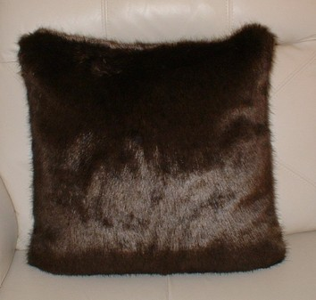 Mahogany Mink Faux Fur Cushions