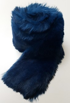 Petrol Blue Faux Fur Trims
