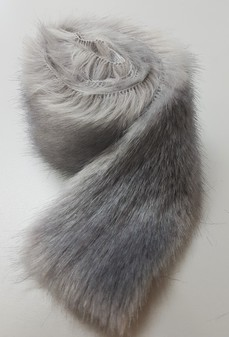 Silver Mink Faux Fur Trims