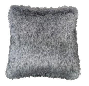 Silver Musquash Faux Fur Cushions