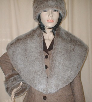 Koala Faux Fur Shawl Collar