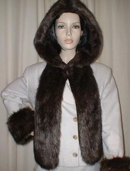 Brown Bear Faux Fur Hoodie