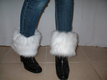 Snow White Faux Fur Boot Toppers