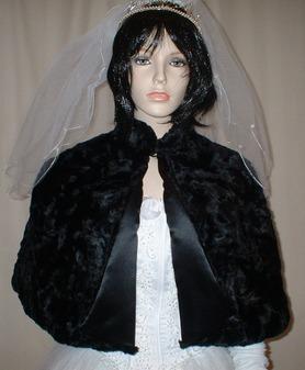 Black Astra Faux Fur Cape