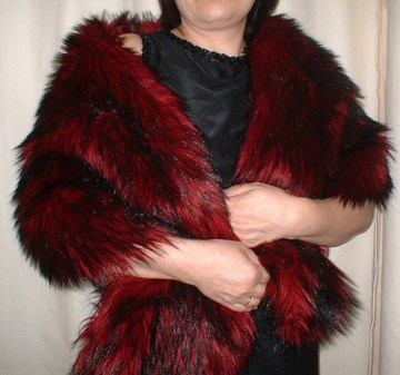 Moulin Rouge Faux Fur Stole