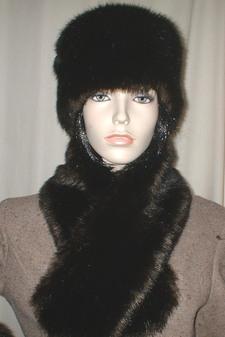 Mahogany Mink Faux Fur Hat