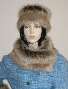 Husky Faux Fur Long Collar