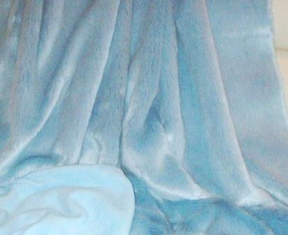 Baby Blue Toddler Faux Fur Blanket
