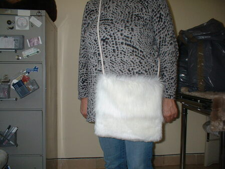 Polar Bear and Marilyn Faux Fur Shoulder Bag
