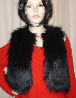 Black Bear Faux Fur Bolero/Waistcoat