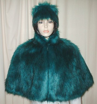 Jade Faux Fur Cape