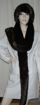 Mahogany Mink Faux Fur Super Long Scarf