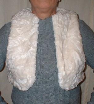 Ivory Astra Faux Fur Bolero/Waistcoat