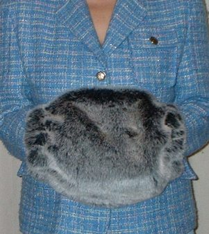 Arctic Wolf Faux Fur Muff