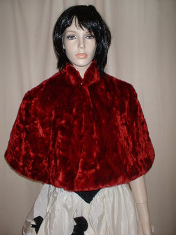 Scarlet Crush Faux Fur Cape