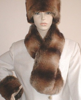 Madagascar Faux Fur Pull Through Scarf