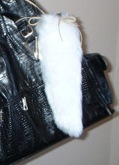 Marilyn Faux Fur Tail Handbag Key Charm