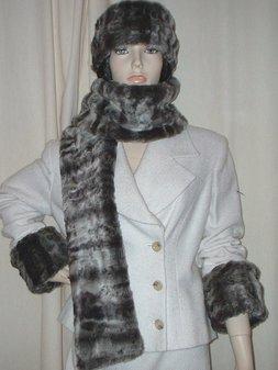 Vintage Silver Astra Faux Fur Cuffs