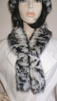 Panther Faux Fur Slim Collar/ Headband