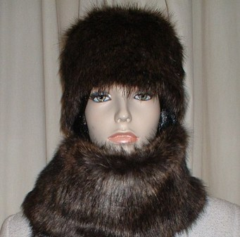 Brown Bear Faux Fur Hat Medium Size