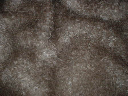 Mongolian Taupe Brown Faux Fur Fabric Per Meter