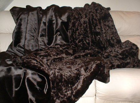 Chocolate Astra Faux Throw