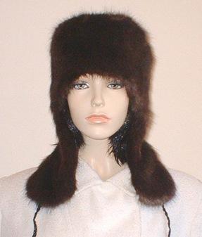 Mahogany Mink Faux Fur Trapper Hat