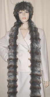 Wolverine Faux Fur Super Long Scarf
