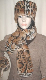 Jaguar Faux Fur Pull Through Scarf