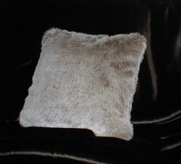 Koala Faux Fur Cushion 16 x 16 inches. 41 x 41 cm