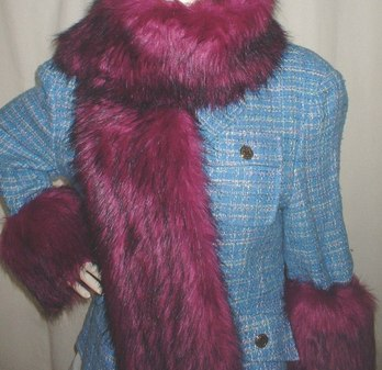 Magenta Faux Fur Cuffs
