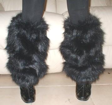Black Bear Faux Fur Leg Warmers