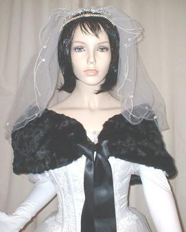 Black Astra Faux Fur Wrap
